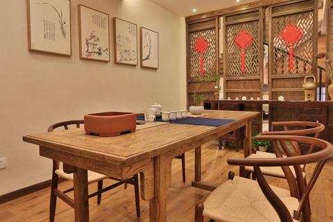 古色古香中式风格茶室装修效果图 意向东方