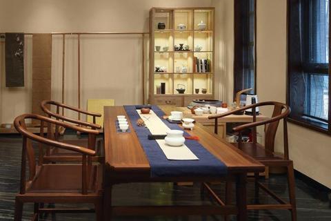 清雅中式风 私人禅意中式茶室效果图精简之极