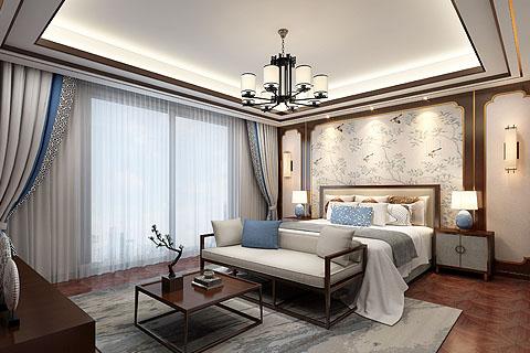 新中式别墅装修效果图,简约而不简单