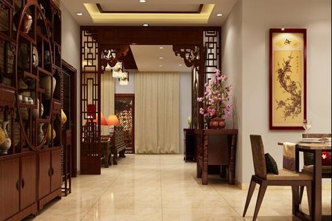 新中式过道餐厅装修效果图 最美不过新中式