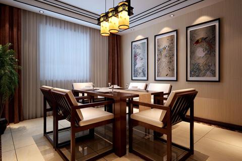 餐厅中式装修效果图大全2018图片集锦(一)