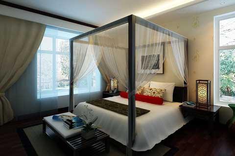 2018各类空间卧室中式装修效果图欣赏(一)