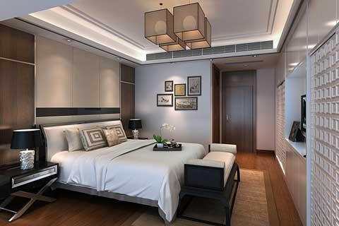 2018各类空间精美卧室中式装修效果图欣赏(二)