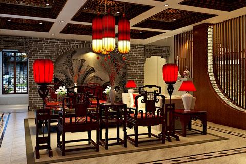 东方韵味 中式风格展厅装修效果图片欣赏