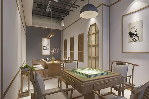 茶楼装修效果图,茶艺空间设计东方文化的诗境融入生活