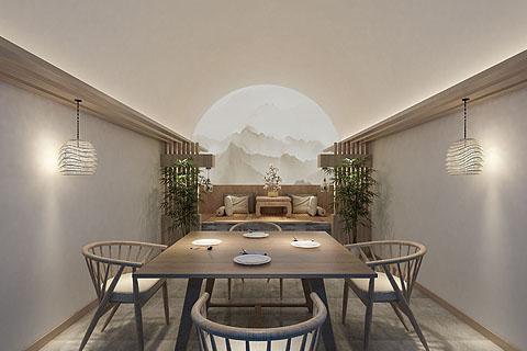 佛系民宿客栈装修效果图,人与自然和谐共存,禅境一体