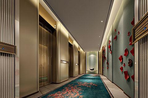 新中式酒店装修效果图,利用清新的设计手法融入现代元素