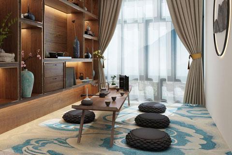 茶室中式风格设计效果图 品味古风禅韵
