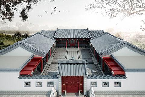 中式四合院装修注意事项,四合院别墅设计建筑文化