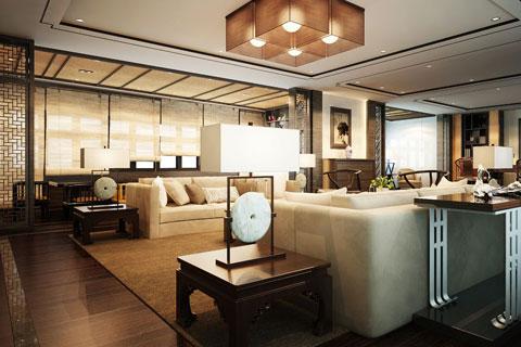 大面积办公空间中式装修 体验中式文化的内涵大气