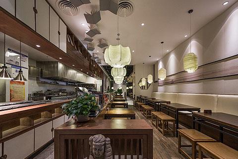 > 酒店中式餐厅装修效果图 酒店中式装修图 餐饮区中式装修
