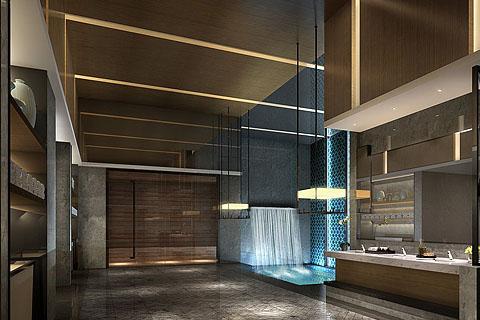 酒店中式装修效果图,营造东方韵镜酒店空间
