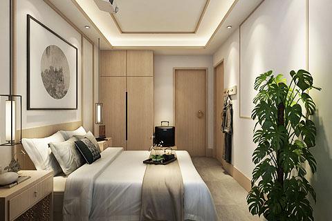 民宿客栈装修效果图,原木色制造温馨环境(一)
