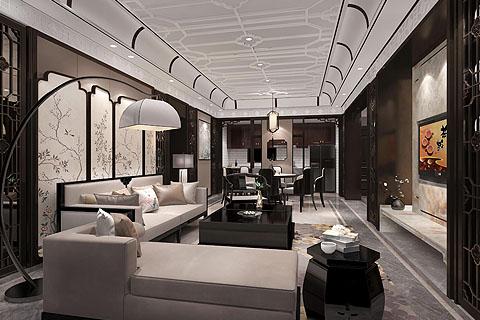 别墅新中式装修图,新中式别墅沉稳大气不失时尚气息