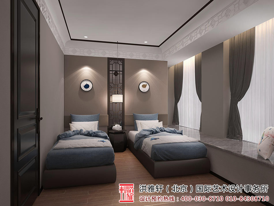 新中式别墅装修效果图