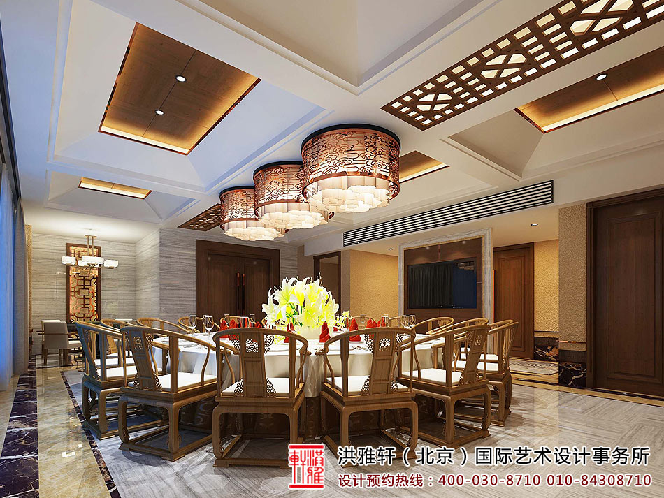 新中式私人会所装修效果图