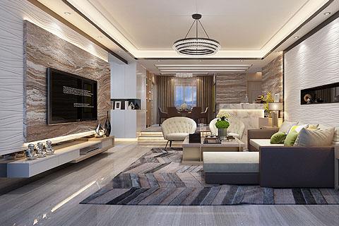 现代中式别墅装修效果图,现代人居生活雅注入空间