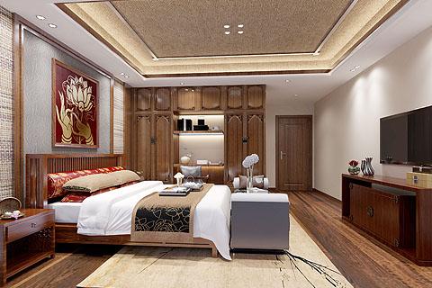 别墅中式装修效果图,让中式传承深入自己的生活。
