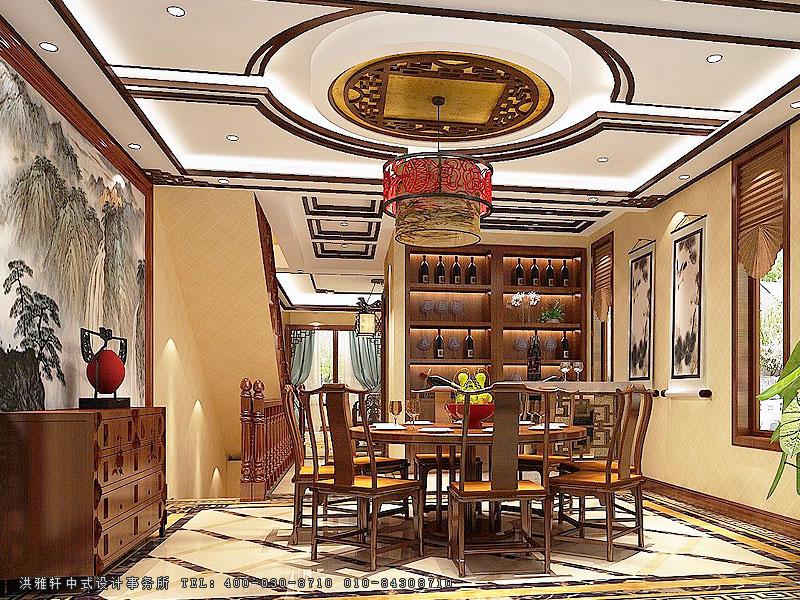 别墅中式装修图片,效果图