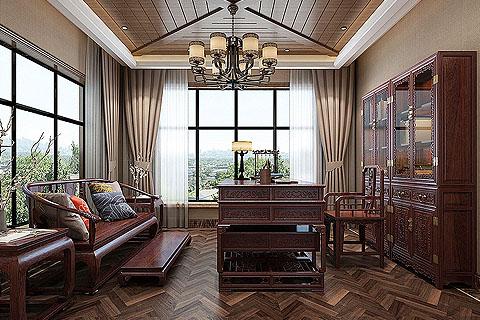 新中式别墅装修效果图,新中式混搭风格让居住更加舒适