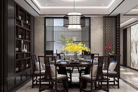 别墅中式装修效果图,现代中式带着古典气息创温馨之所。