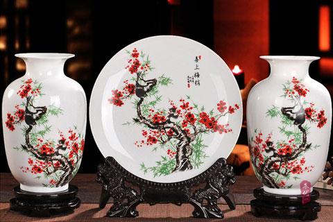 简约中式装修家居客厅陶瓷花瓶工艺摆件