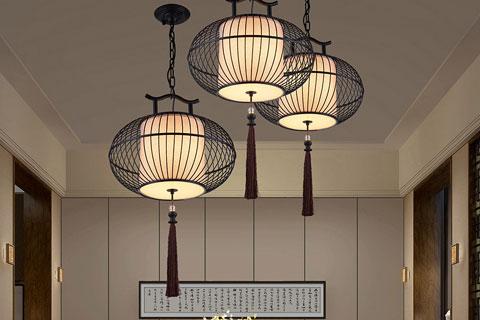 新中式鸟笼吊灯让空间恢复了自然生态的幽雅意境
