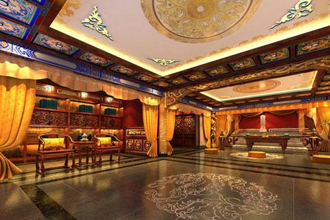 西安精品豪宅中式设计,展现古朴雅致的生活气氛
