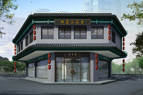 信阳茶楼中式装修设计,高档气派舒适清雅