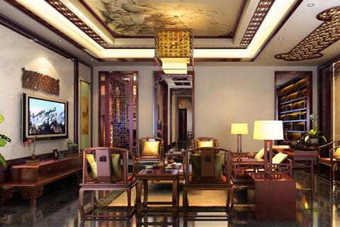 湖南别墅中式装修案例,展现高端优雅的贵族享受