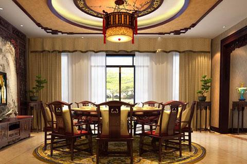 重庆古典风格别墅中式设计案例 奢华富丽又有韵味