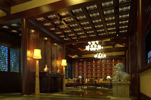 四合院中式设计理念,奢华含蓄的气质完美呈现