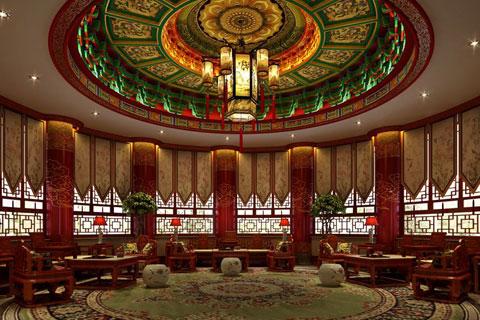 益阳江南古城中式风格售楼处设计案例,古韵意味浓厚
