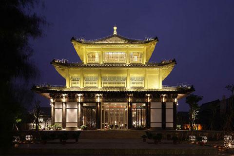 中式酒店装修效果图,最能体现高端视觉和实际享受