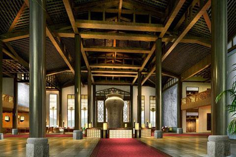 徐州古典中式酒店设计,体现舒适自在的休闲环境
