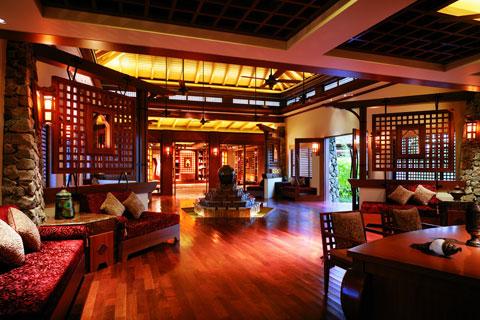 三亚酒店中式设计案例,富丽堂皇与高雅的休闲气氛