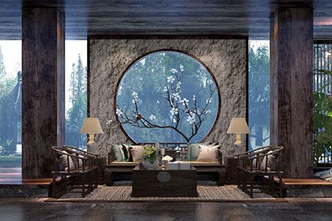 北京禅意中式酒店装修设计,以禅作为文化提供冥想空间