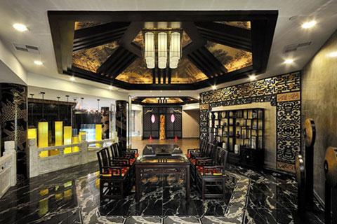海南酒店餐厅中式设计,高端大气充满舒适富丽感