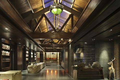 浙江酒店会所中式设计,凸显舒适和典雅之风