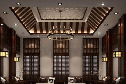 中式会所装修案例欣赏,独具古典气质和宁静的味道