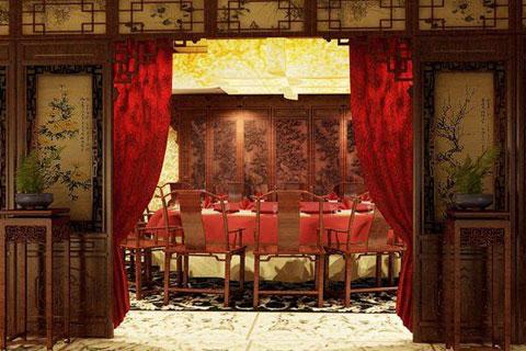 古典风格的政法委包间装修,高端豪华优雅大气
