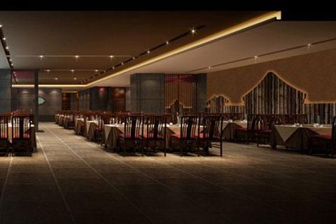 郑州餐厅中式设计,布置华丽意蕴高雅