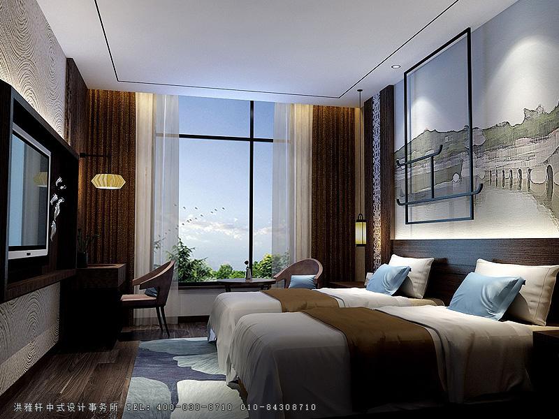 酒店装修效果图新中式