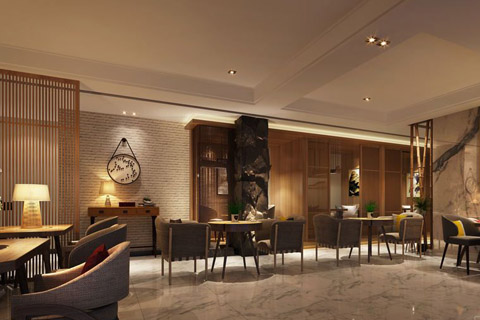 茶楼中式装修设计效果图,新中式中展现古茶文化