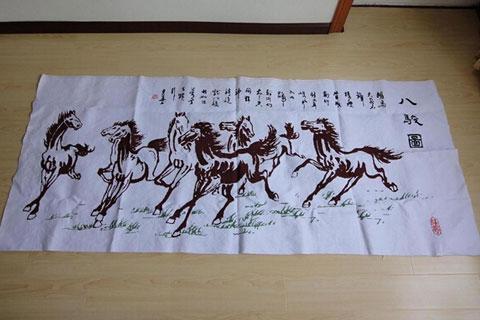 传统中式木雕砖刻艺术——八骏图赏析