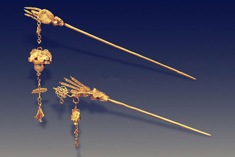华美无比的传统工艺累丝金银首饰欣赏
