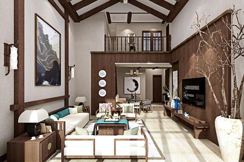 别墅洋房新中式装修效果图,低调奢华,简约大气!