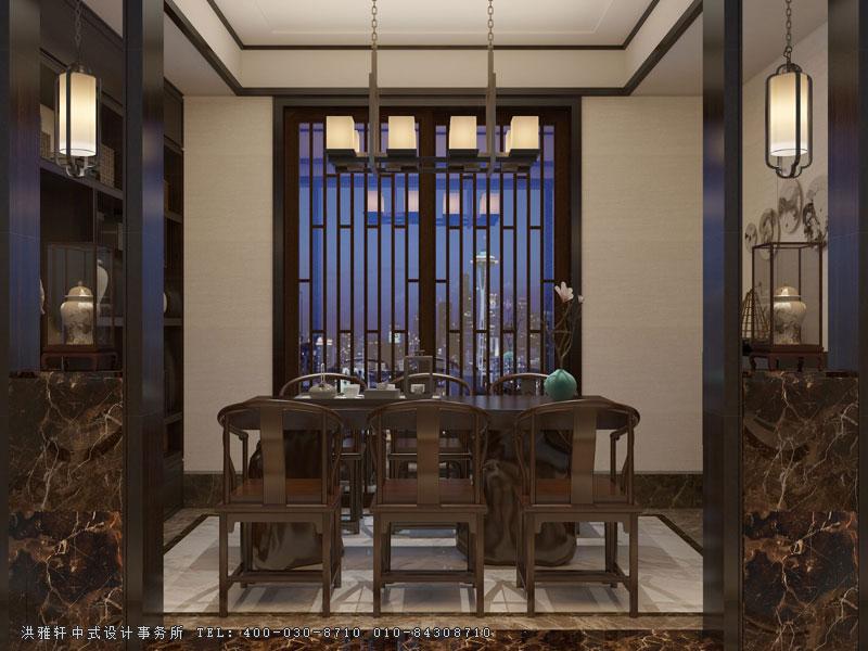 别墅洋房新中式装修效果图