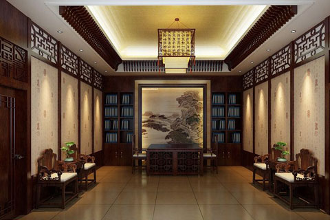秦皇岛新办公室中式设计 浓浓古意渗透人们心扉
