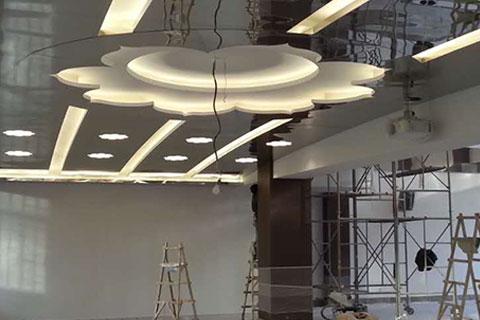 五台山普寿寺寺院装修施工现场